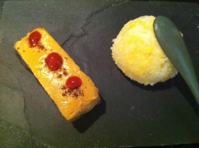 Aubergine laquée, riz gluant aux haricots mungo https://carnetdesaveursetsenteurs.com/2013/02/15/carnaval-legumes-sortez-masques/