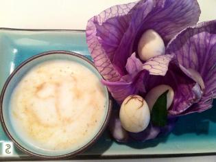 Salade de chou et oeuf marbré http://wp.me/p389oa-8R