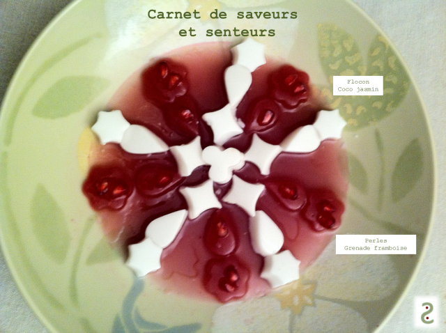 Flocon jasmin coco, grenade framboise