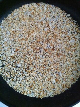Riz grillé à broyer en poudre