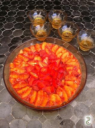Carpaccio fraises sanguines, gelée bourbon miel http://wp.me/p389oa-iR