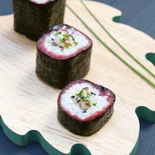 Maki carpaccio shitakés ciboulette sésame http://wp.me/p389oa-o8