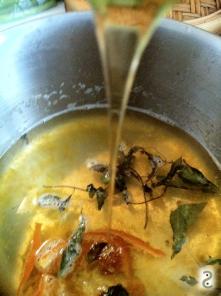 Coulis abricot, marmelade mandarine, verveine et miel