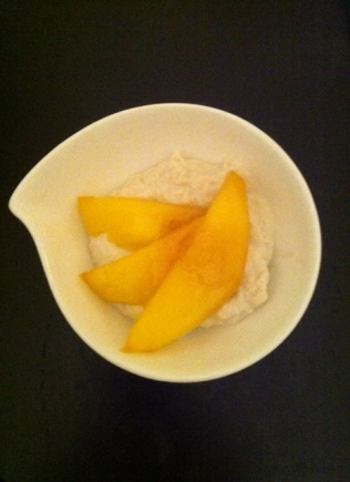 crème de cajou, miel gingembre, mangue http://wp.me/p389oa-SO