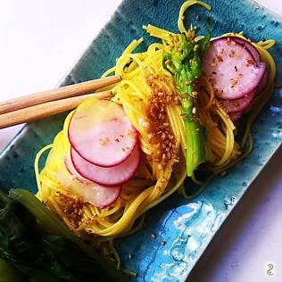 Soba yuzu , radis, emadame, sesame http://wp.me/p389oa-10Y