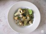 Artichauts poivrade, bulots, gingembre et citron vert http://wp.me/p389oa-14c
