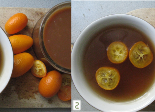 Caramel beurre salé , gelée earl grey et kumquats http://wp.me/p389oa-1bJ