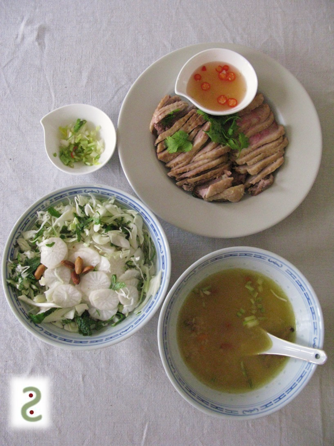 Chao vit, soupe de riz au canard