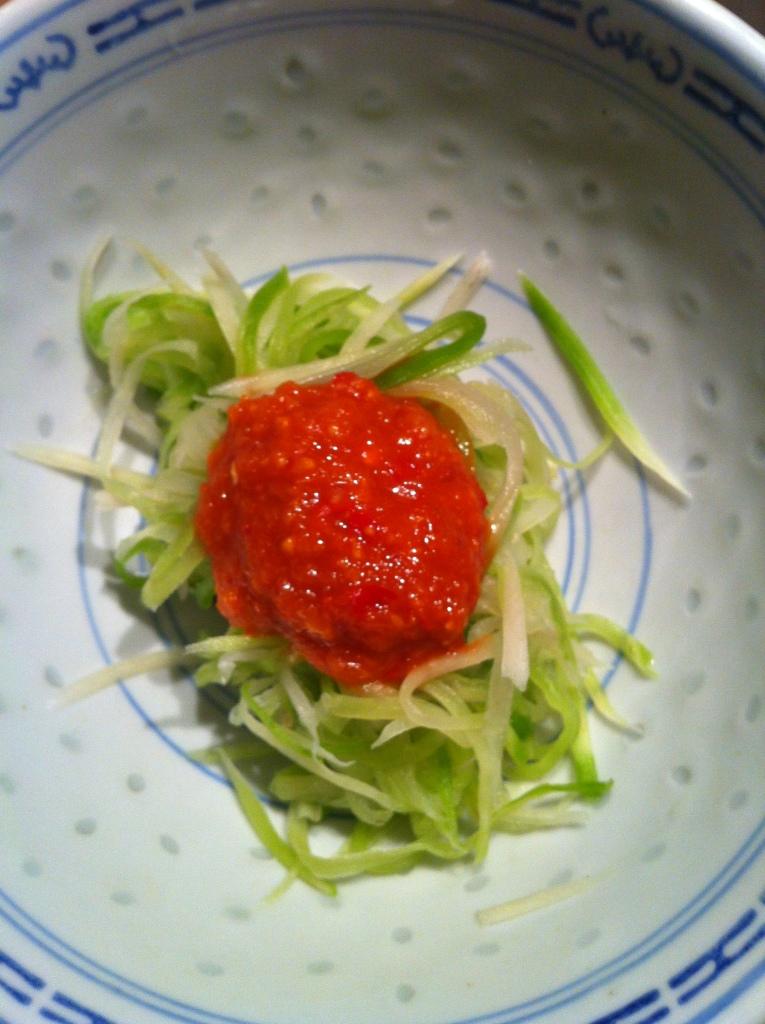 Kimchis de radis vert